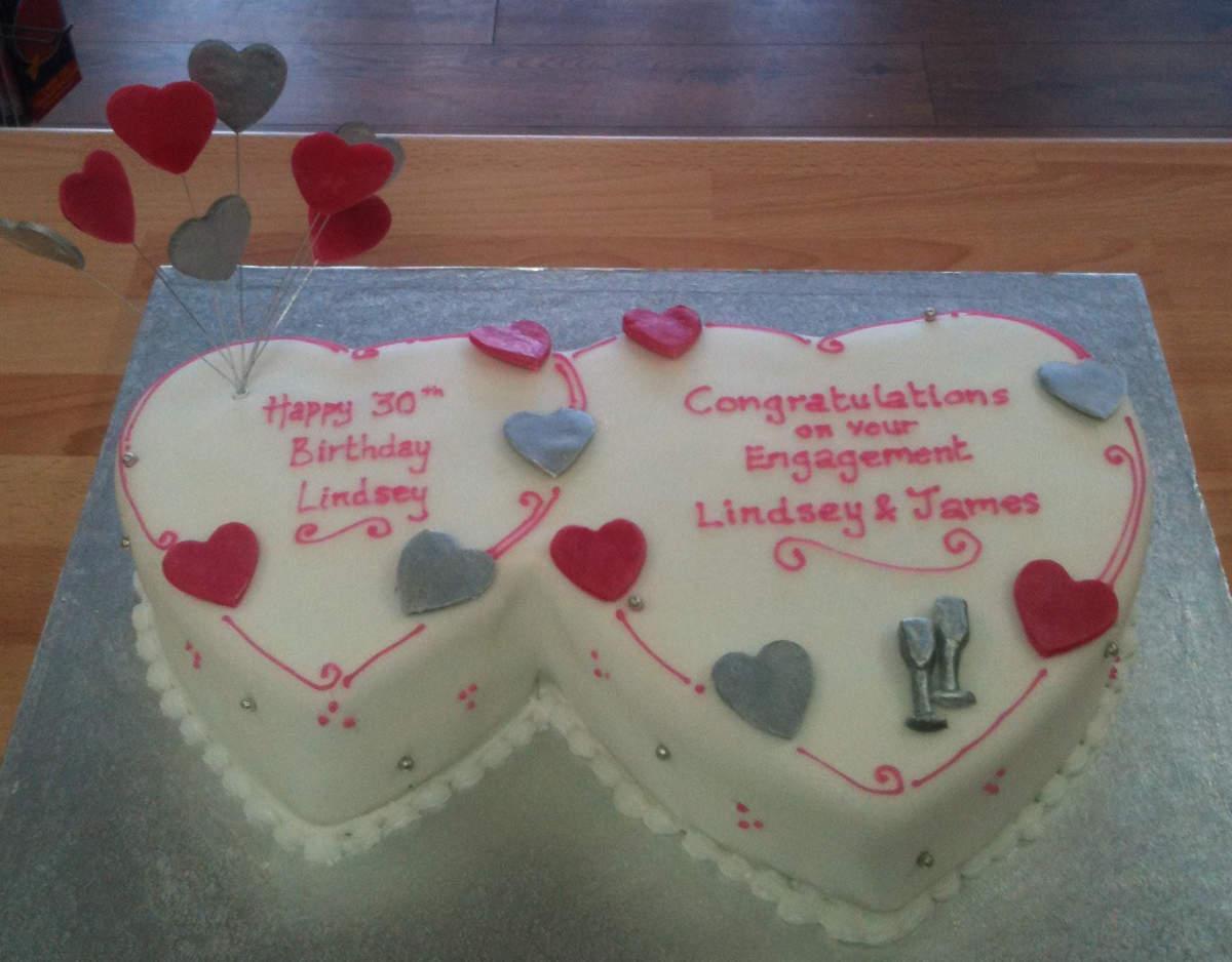 Marvelous Engagement And Anniversary Celebration Cakes Custom Made For You Personalised Birthday Cards Xaembasilily Jamesorg